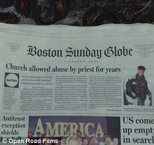 The first story published by the Spotlight team about sex abuse by priests in the Catholic Church in Boston.